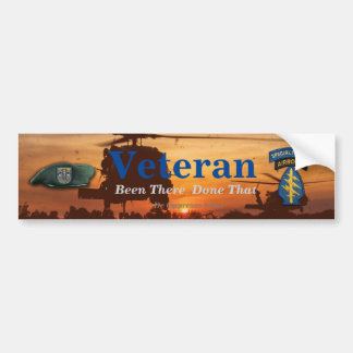12th special forces green berets sf veterans vets bumper sticker