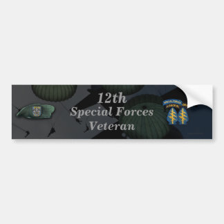 12th special forces veterans day Bumper Sticker