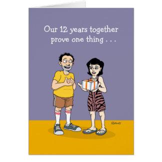 12th Wedding Anniversary Card: Love Greeting Card