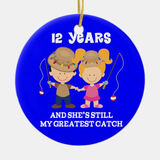 12th Wedding Anniversary Funny Gift For Him Round