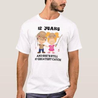 12th Wedding Anniversary Gift For Him T-Shirt