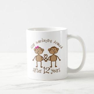 12th Wedding Anniversary Gifts Basic White Mug