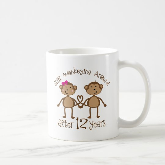 12th Wedding Anniversary Gifts Coffee Mug Zazzle