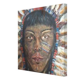 12x12 canvas: Native American Indian Canvas Print