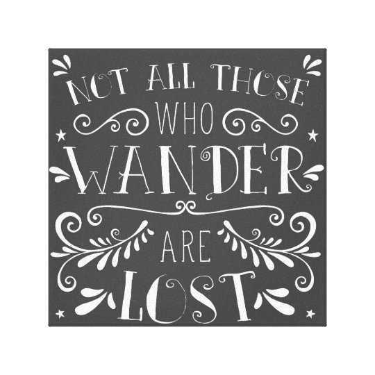 12x12 Not All Those Who Wander Wall Quote