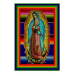 12x18 Our Lady of Guadalupe Zarape Tilma Poster