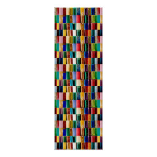 """12x36"""" TILE Poster Colourful Embossed look Line"""