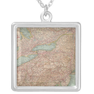 13031 Ohio, Penn, NY, Vt, NH, WVa, Va, NC Silver Plated Necklace