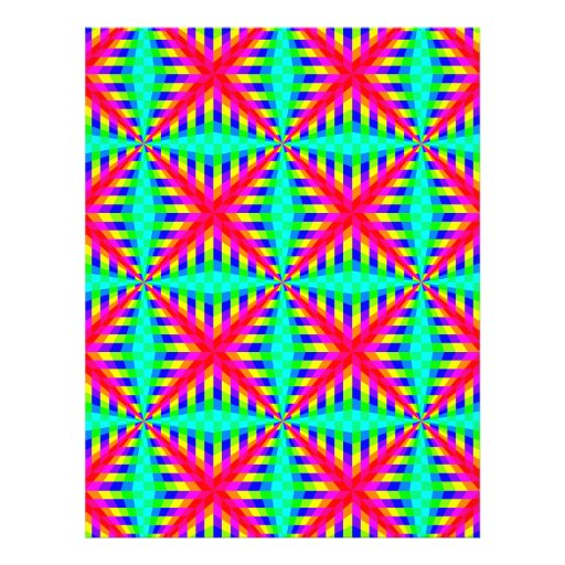 13090 OPTICAL ILLUSIONS COLORFUL SHAPES GROOVY DIG CUSTOM FLYER