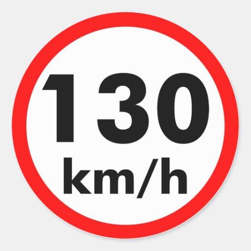 130 km/h sticker