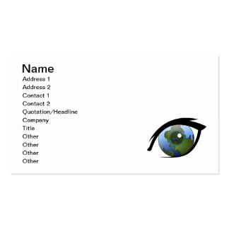 1312287950_Vector_Clipart earth eye icon logo Double-Sided Standard Business Cards (Pack Of 100)