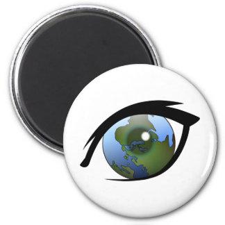 1312287950_Vector_Clipart earth eye icon logo Fridge Magnet