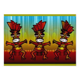 1312743176_Vector_Clipart Hawaiian Tiki men 13 Cm X 18 Cm Invitation Card