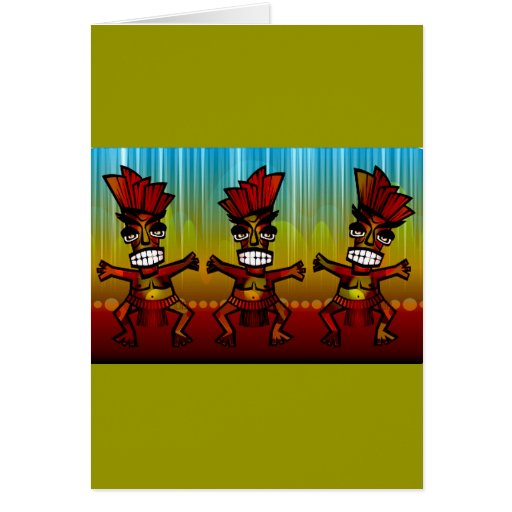 1312743176_Vector_Clipart Hawaiian Tiki men Greeting Card