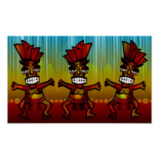 1312743176_Vector_Clipart Hawaiian Tiki men Poster