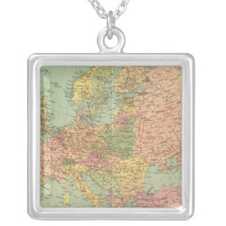 1314 Political Europe Silver Plated Necklace
