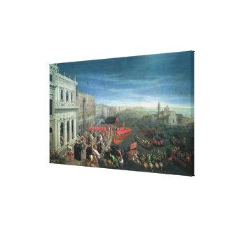 131-0057978/1 Riva degli Schiavoni, Venice Stretched Canvas Print