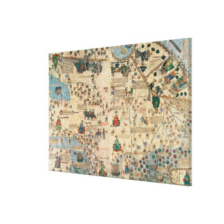131-0058260/1 Catalan Atlas: Detail of Asia, by Ja Canvas Print