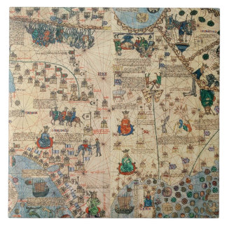 131-0058260/1 Catalan Atlas: Detail of Asia, by Ja Tile