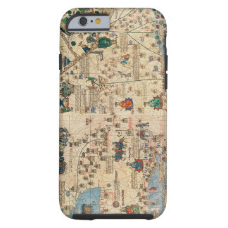 131-0058260/1 Catalan Atlas: Detail of Asia, by Ja Tough iPhone 6 Case
