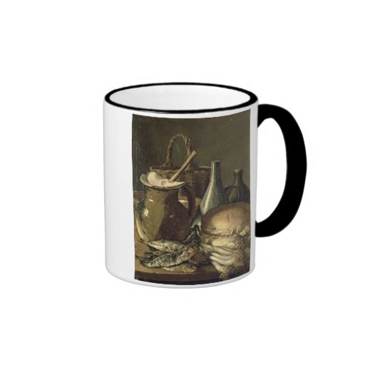 131-0058519/1 Still Life with Fish, Leeks and Brea Coffee Mugs