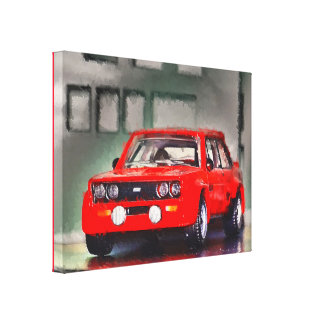 131 ABARTH - Digitally Work Jean Louis Glineur Canvas Print