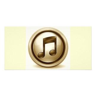 132535u7 Music icon graphic design dance party fun Photo Card Template
