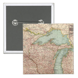 13435 Mich, Wis, Minn, Ia, Mo, Ill, Ind, Ky 15 Cm Square Badge
