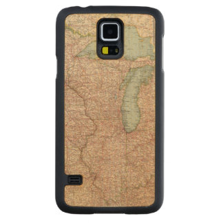 13435 Mich, Wis, Minn, Ia, Mo, Ill, Ind, Ky Carved Maple Galaxy S5 Case