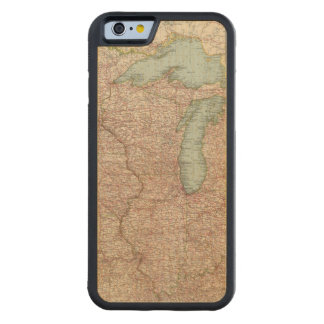 13435 Mich, Wis, Minn, Ia, Mo, Ill, Ind, Ky Carved Maple iPhone 6 Bumper Case