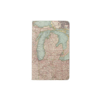 13435 Mich, Wis, Minn, Ia, Mo, Ill, Ind, Ky Pocket Moleskine Notebook