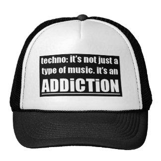13770 techno type music addiction motto preference cap