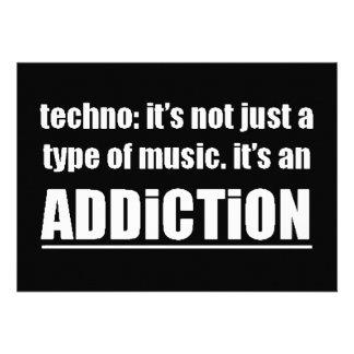 13770 techno type music addiction motto preference personalized announcement