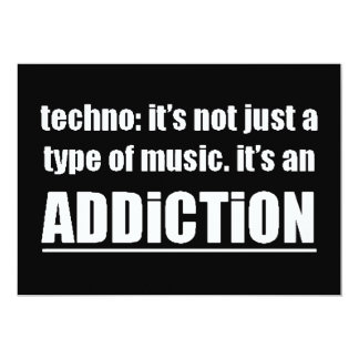13770 techno type music addiction motto preference personalized announcement