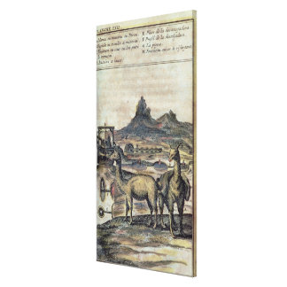 137-0627924 Illustration from a history of Peru sh Canvas Print
