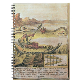 137-627922 Illustration from a history of Chile sh Spiral Note Book