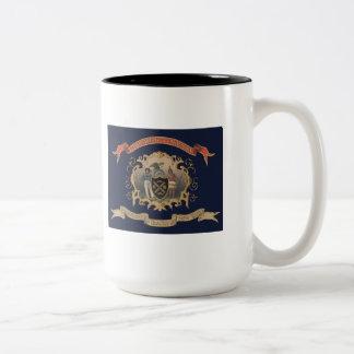 139th NY Volunteer Infantry Regimental Flag (City) Two-Tone Mug