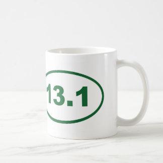 13.1 green basic white mug