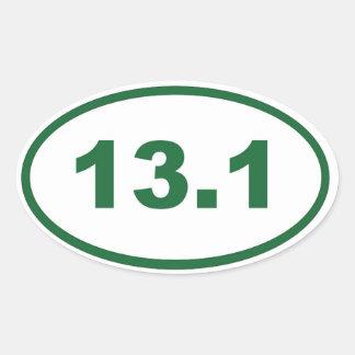 13.1 green oval sticker