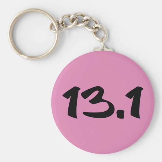 13.1 Half Marathon Basic Round Button Key Ring
