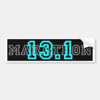 13.1 half Marathon Bumper Sticker