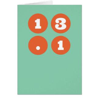 13.1 Half Marathon Card