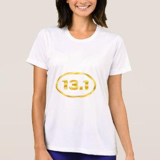 13.1 Half Marathon Gold Oval T-Shirt