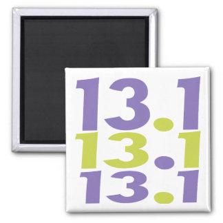 13.1 half marathon square magnet