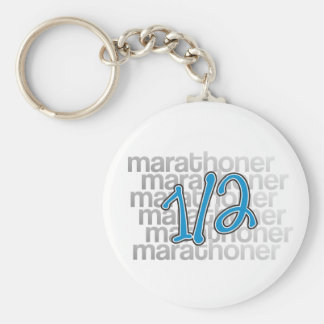 13.1 half marathoner basic round button key ring