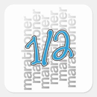 13.1 half marathoner square sticker