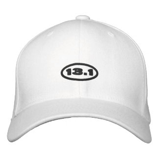 13.1 Hat   Embroidered Black Text Embroidered Baseball Cap