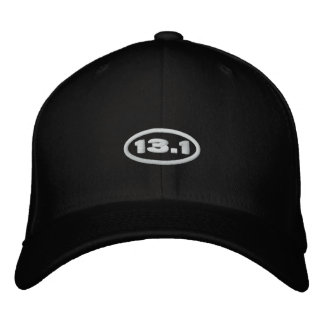 13.1 Hat   Embroidered White Text Embroidered Baseball Cap