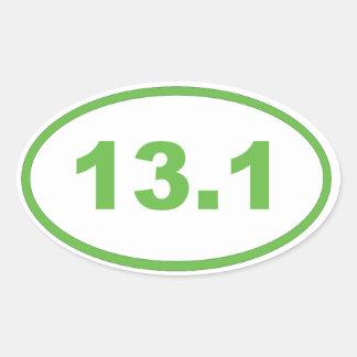 13.1 light green oval sticker