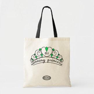 13.1 Running Princess (green) Budget Tote Bag